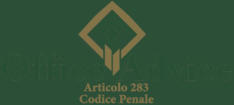Articolo 283 - Codice Penale