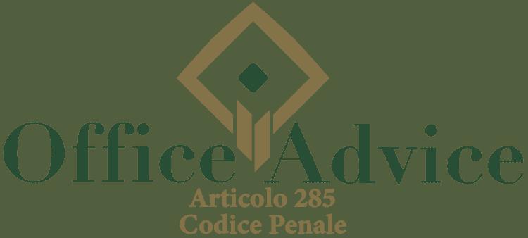 Articolo 285 - Codice Penale