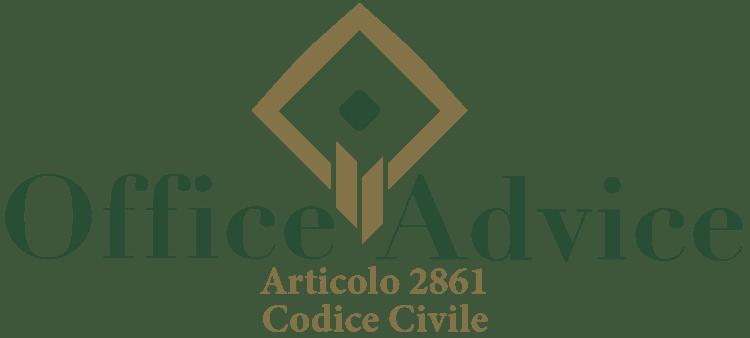 Articolo 2861 - Codice Civile