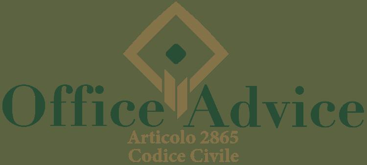 Articolo 2865 - Codice Civile
