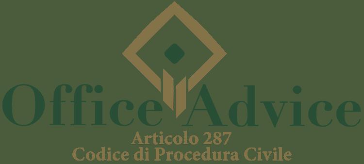 Articolo 287 - Codice di Procedura Civile