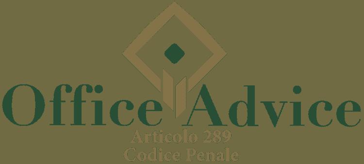 Articolo 289 - Codice Penale