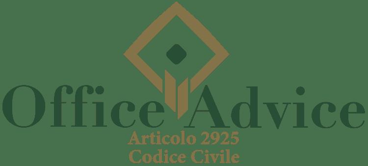 Articolo 2925 - Codice Civile