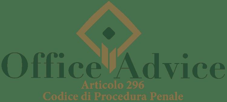 Articolo 296 - Codice di Procedura Penale
