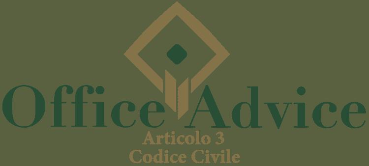 Articolo 3 - Codice Civile