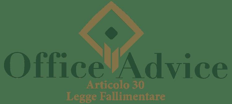 Articolo 30 - Legge fallimentare