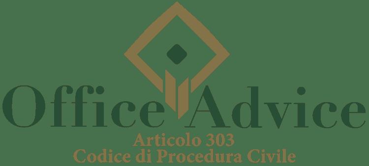 Articolo 303 - Codice di Procedura Civile