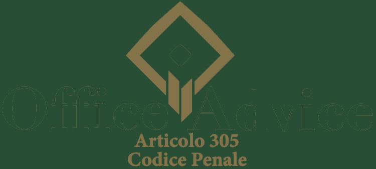 Articolo 305 - Codice Penale