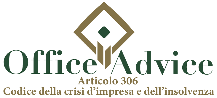 Art. 306 - Codice della crisi d'impresa e dell'insolvenza