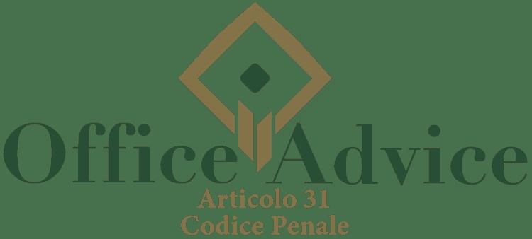 Articolo 31 - Codice Penale