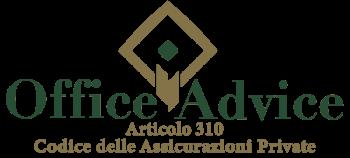 Articolo 310 - Codice delle assicurazioni private