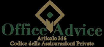 Articolo 316 - Codice delle assicurazioni private