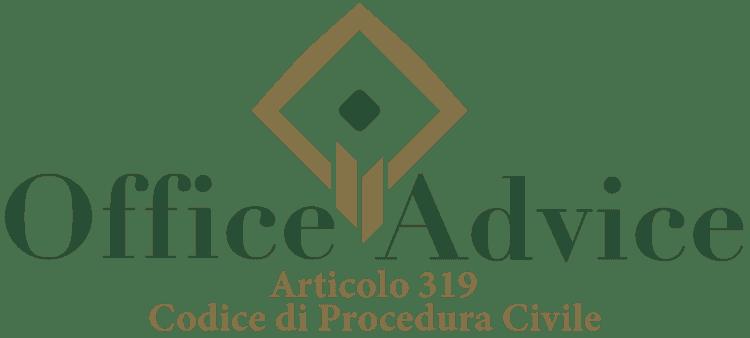 Articolo 319 - Codice di Procedura Civile