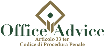 Articolo 33 ter - Codice di Procedura Penale