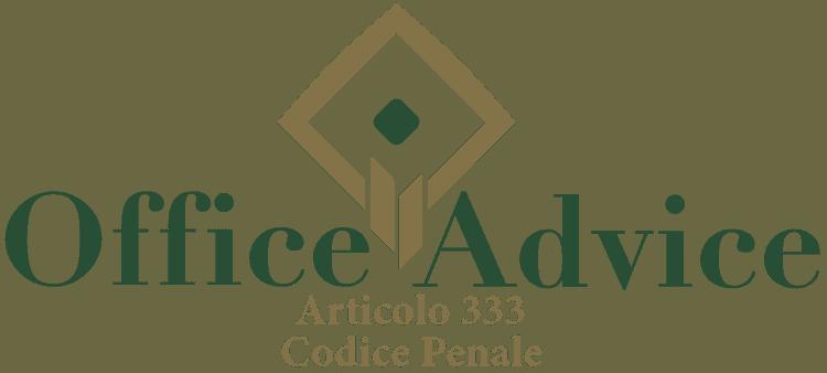 Articolo 333 - Codice Penale