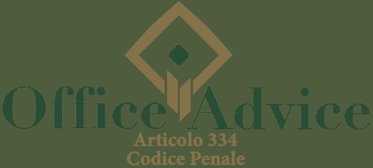 Articolo 334 - Codice Penale