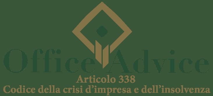 Art. 338 - Codice della crisi d'impresa e dell'insolvenza
