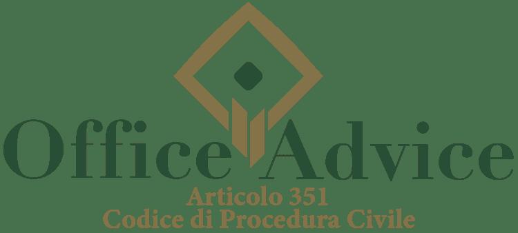 Articolo 351 - Codice di Procedura Civile