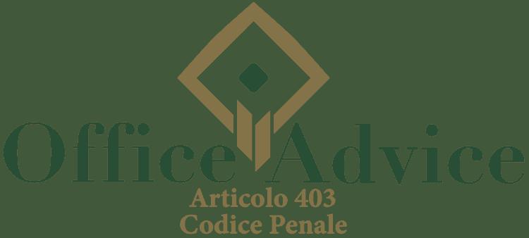 Articolo 403 - Codice Penale