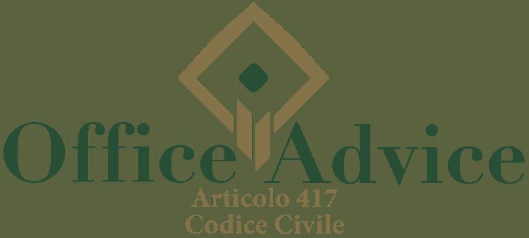 Articolo 417 - Codice Civile