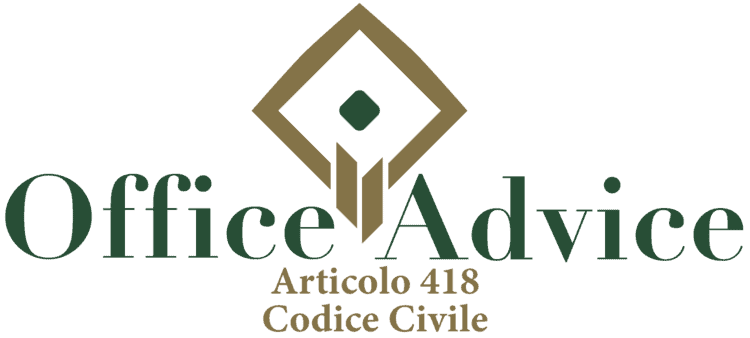 Articolo 418 - Codice Civile