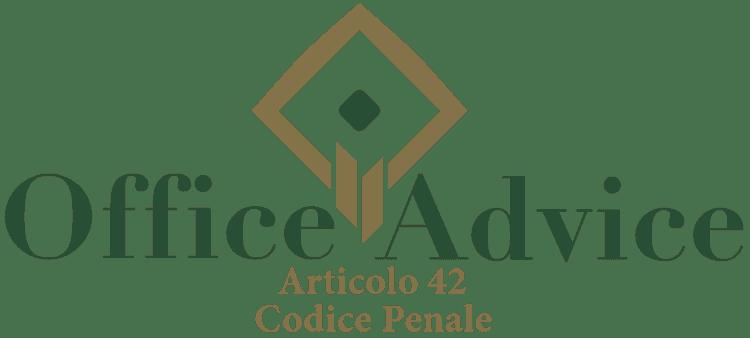 Articolo 42 - Codice Penale