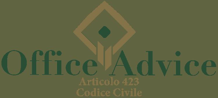 Articolo 423 - Codice Civile
