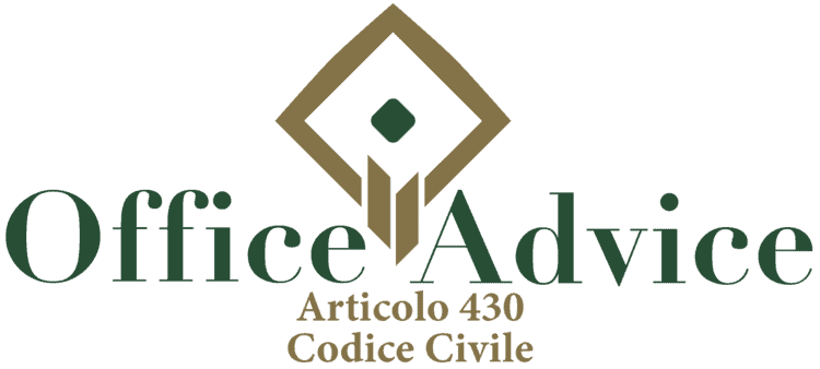Articolo 430 - Codice Civile