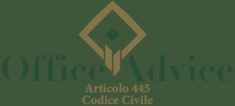 Articolo 445 - Codice Civile