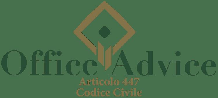 Articolo 447 - Codice Civile