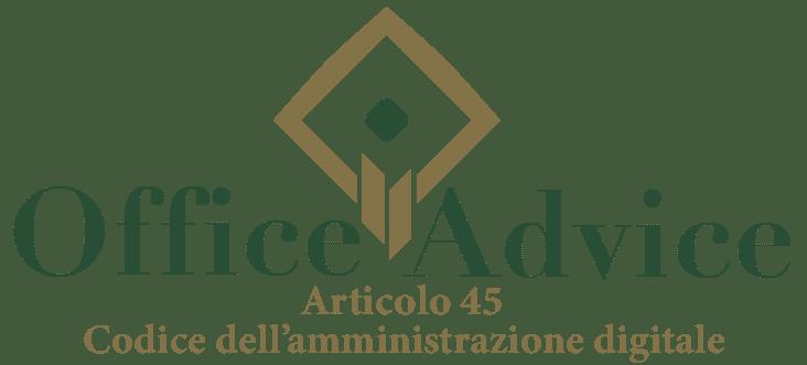 Art. 45 - Codice dell'amministrazione digitale