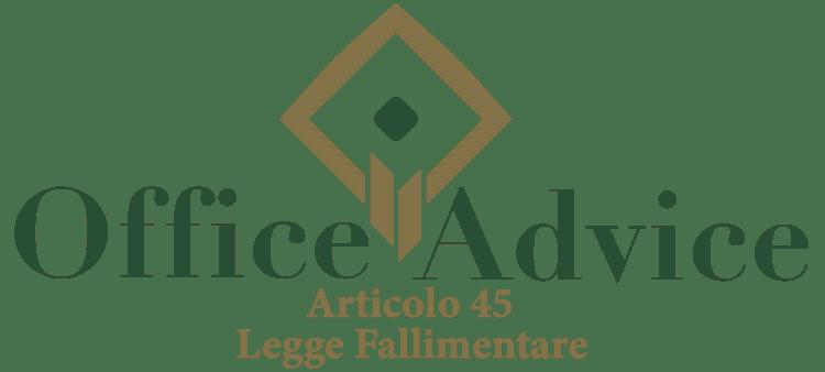 Articolo 45 - Legge fallimentare