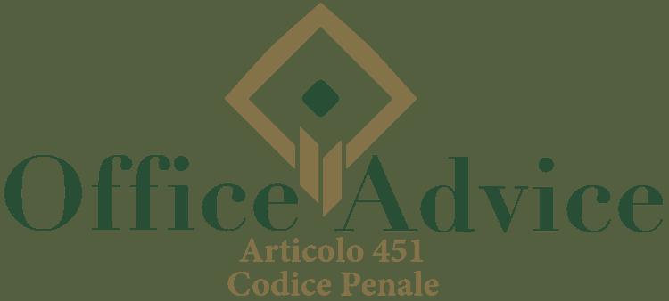 Articolo 451 - Codice Penale
