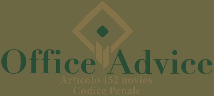 Articolo 452 novies - Codice Penale