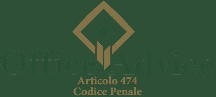 Articolo 474 - Codice Penale