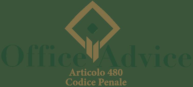 Articolo 480 - Codice Penale
