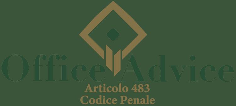 Articolo 483 - Codice Penale
