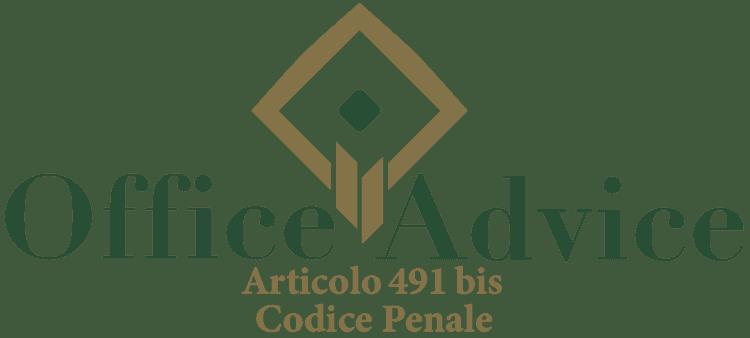 Articolo 491 bis - Codice Penale
