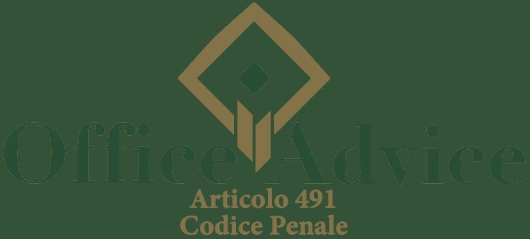Articolo 491 - Codice Penale