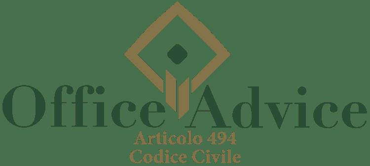 Articolo 494 - Codice Civile