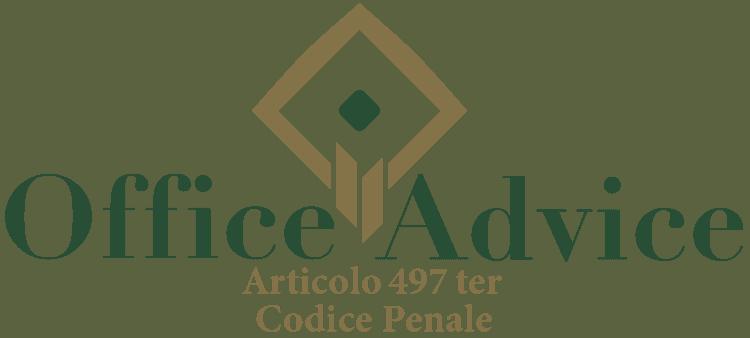 Articolo 497 ter - Codice Penale