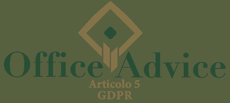 Articolo 5 - GDPR