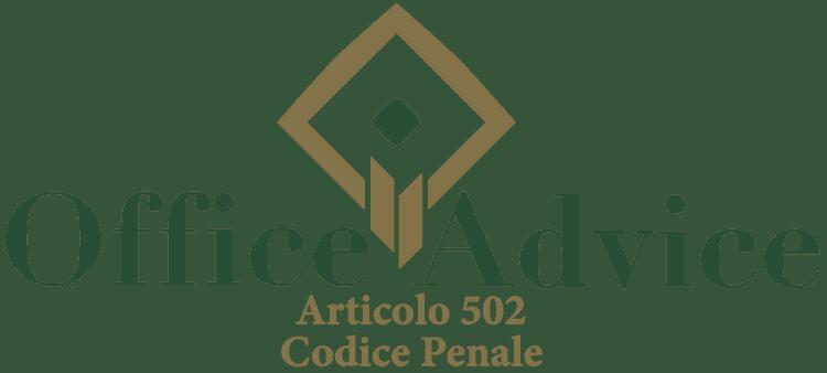 Articolo 502 - Codice Penale