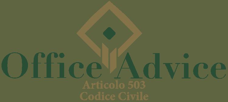 Articolo 503 - Codice Civile