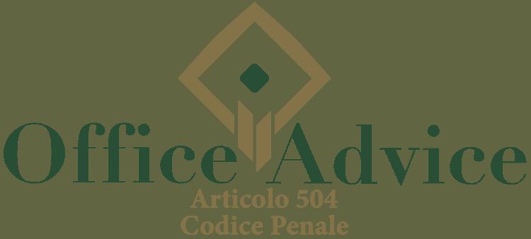 Articolo 504 - Codice Penale