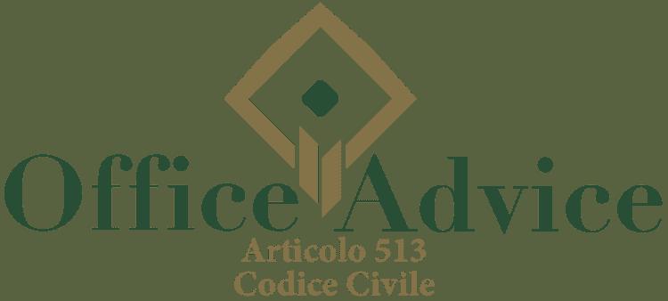 Articolo 513 - Codice Civile