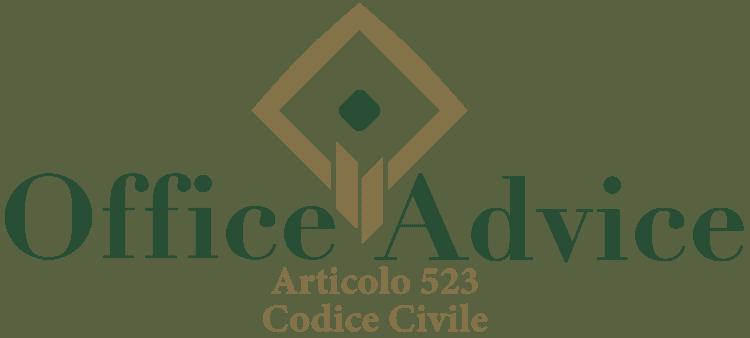 Articolo 523 - Codice Civile