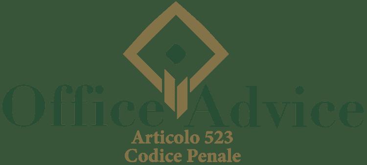 Articolo 523 - Codice Penale