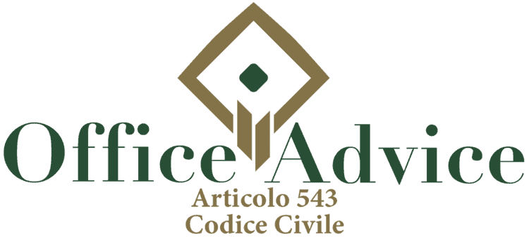 Articolo 543 - Codice Civile
