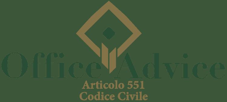 Articolo 551 - Codice Civile